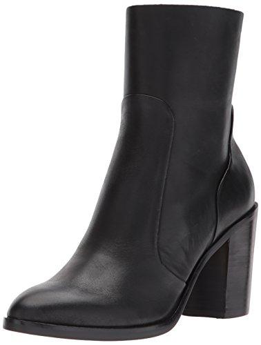 Dolce Vita Women's SAMIE Fashion Boot, Black Leather, 12 Medium US