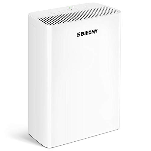 Euhomy Air Purifier for Home, Quiet 4-in-1 H13 True HEPA Air Filter, Four speed adjustment, Sleep Mode Timer Auto Mode for bedroom, office, apartment, living room, White…