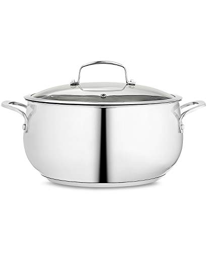 Belgique Stainless Steel 7.5 Qt. Covered Dutch Oven