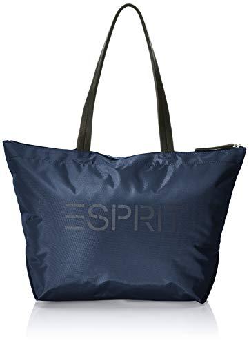 Esprit Accessoires Damen Noos Cleo Shopp Schultertasche, Blau (Navy), 18x28x32 cm