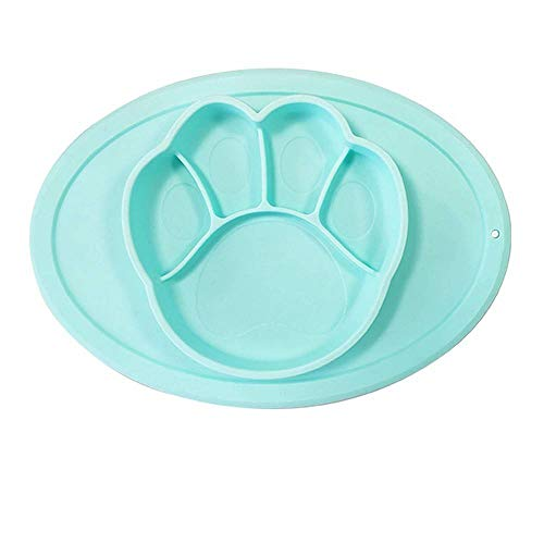 GURUGU Baby Dinner Plate Cartoon Kid Multifunctional Silicone Household Department Non-Slip Suction Supplement Feeding Plate