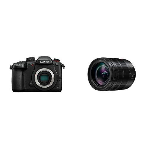 Panasonic Lumix DC-GH5SEG-K Systemkamera (10 MP, Prof. Videofunktionen, schwarz) & H-ES12060E Leica DG Vario-Elmarit Kamera Objektive (12-60mm/F2.8-4.0, Standardzoom, Dual I.S, schwarz)