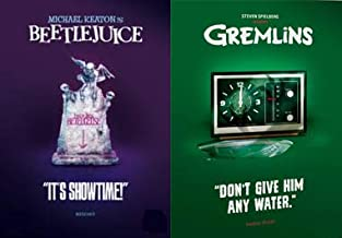 Classic Fun Family Scares: Beetlejuice + Gremlins (Limited Edition Pop Art Slip Covers) 2 DVD Collection