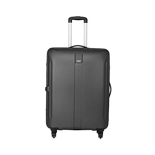 Safari Thorium Sharp Antiscratch 55 Cms Polycarbonate Black Cabin 4 wheels  Hard Suitcase