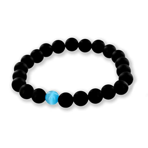 Believe London Gemstone Bracelet Healing Bracelet Chakra Bracelet Anxiety Crystal Natural Stone Men Women Stress Relief Reiki Yoga Diffuser Semi Precious
