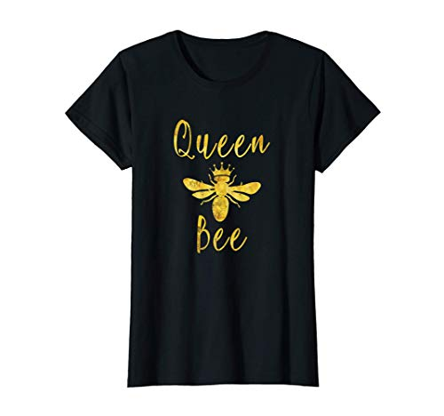 Womens Queen Bee Crown Gift For Women Wives Mothers Bumble Bee T-Shirt