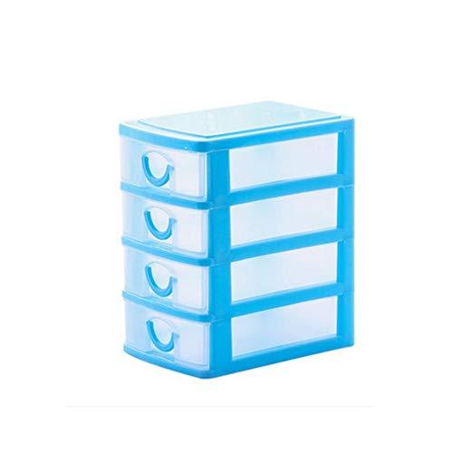 SMEJS Caja de Almacenamiento Creativa de la joyería de los cosméticos, Mini Caja de Almacenamiento del cajón de Escritorio de plástico Transparente (Color : B)