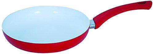 MSV 110496 - Aluminio sartén/con Revestimiento de cerámica, Rojo/Blanco, 22 cm