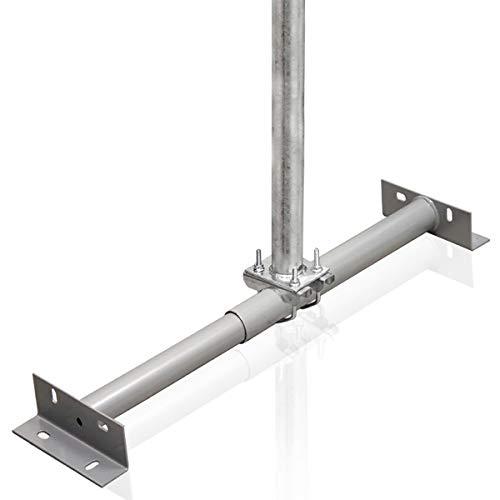 PremiumX Dachsparrenhalter 1m Mast Stahl feuerverzinkt SAT Dach Sparrenhalter für Satellitenschüssel