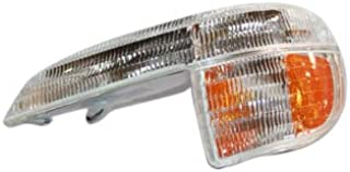 Passengers Park Signal Front Marker Light Lamp Black Bezel Replacement for Chevrolet GMC Isuzu Pickup Truck 8-20936-078-0