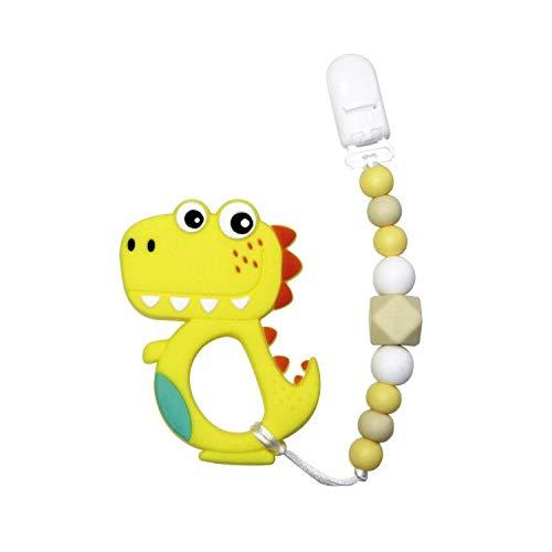 Clip ciuccio dentizione neonati massaggiagengive neonati Dentifricio Sensoriale Mastica Dinosauro Silicone Massaggiagengive con ciuccio Clip Senza BPA