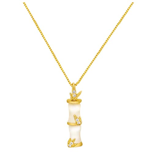 Colgante de bambú personalizado, collar con colgante para mujer, acero de titanio para mujer, regalo de aniversario, accesorios de joyería para mujeres y niñas, collar de regalo para mujer