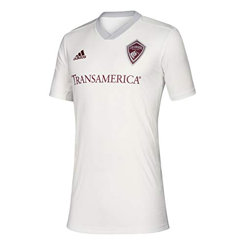 adidas Colorado Rapids MLS Youth White Official Climalite Team Replica Jersey (M)