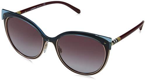 Burberry dames 0BE3096 126590 55 zonnebril, rood (rood/lichtgoud/grijs violet)