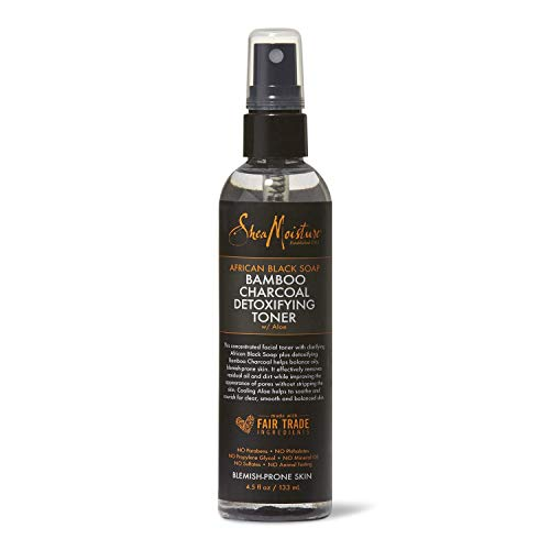 African Black Soap Bamboo Charcoal Detoxifying Toner with Aloe (4.5 Fluid Ounces)