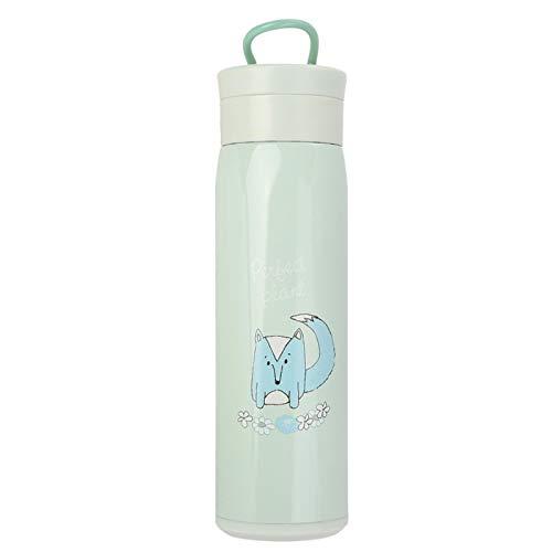 Botella de vacío Aislamiento de doble capa para viaje Taza de vacío de acero inoxidable para viajes, al aire libre(green)