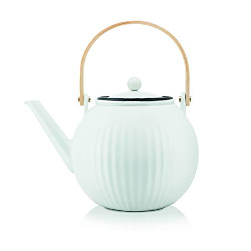 Bodum Douro 11920-03 Teekanne aus Porzellan mit Filter aus Edelstahl, 1,5 l