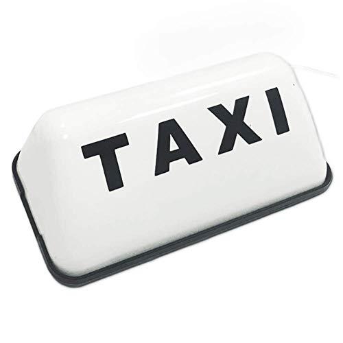 xiegons0 Dc 12V Taxi Cab Dach Top Beleuchtet Zeichen, 23.5x7x5.5cm Weiß/Gelb Taxi LED Zeichen Dekor - Weiß, Free Size