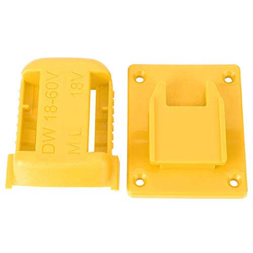 AMONIDA Fixing Device, Easy Installation Reliable Practical Battery Fixing Device, For Fixing 20V Batteries Power Tools(yellow)
