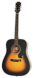 This is the Epiphone DR-100 Dreadnought Acoustic Guitar in Sunburst Finish