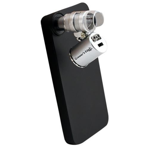 Grower's Edge iPhone 4/4S Case w/ LED Pocket Microscope 60x