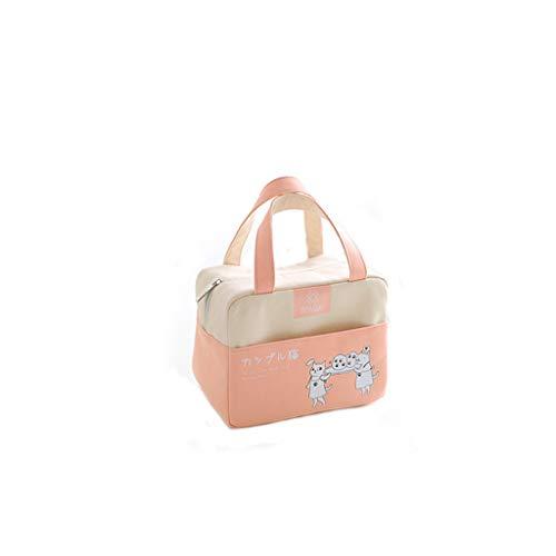 Amuse-MIUMIU Kühltasche Klein Leicht Lunch Tasche Isoliertasche zur Arbeit Schule Faltbar Wasserdicht Reißverschluss Lunch Bags für Frauen, Kinder, Mädchen, Jungen, Schule und das Picknick (Pink)