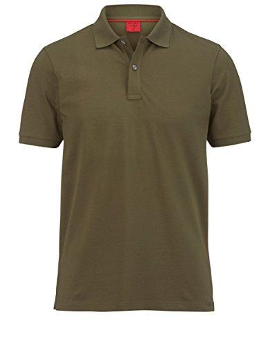 OLYMP Body Fit Poloshirt Halbarm geknöpft Pique oliv Größe L