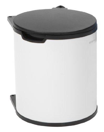 Brabantia Built-In - Cubo de Basura, 15 litros, Cubo Interior de plástico extraíble, Color Blanco