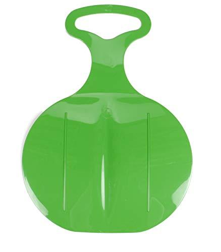 Bubble-Store Teller-Schlitten, Schneerutscher mit Griff, Rutschfester Sitzfläche, Gleitsohle, lieferbar in den Farben Rot Blau oder Grün (Grün)