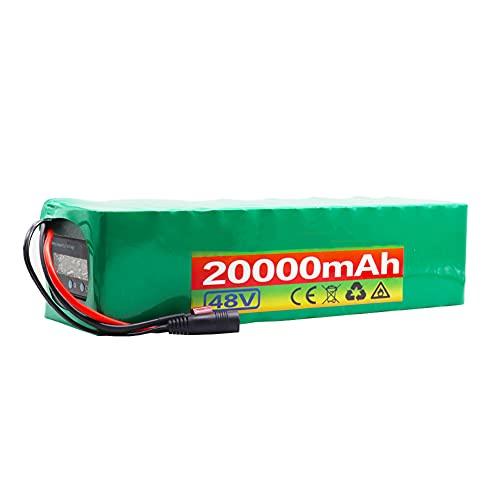HLDUYIN 48 V 20Ah Pacco Batteria agli Ioni Litio E-Bike Batteria al Litio 13s3p 18650 Adatto per Motori Biciclette Elettriche Entro 1000 W con Display Tensione + BMS + Caricabatterie