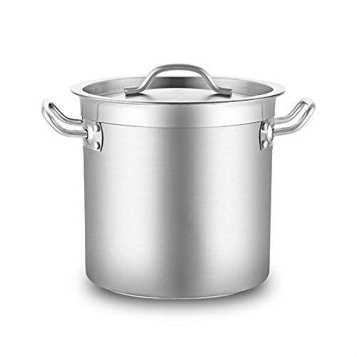 MUMUMI Pots,Large Cooking Pots,Composite Bottom Deep Stock Pots,Diameter 25 cm,Height 25 cm,10 litres,Stainless Steel