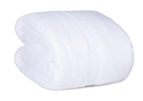 Berkshire Serasoft Plus Plush Polyester Blanket, White Full/Queen