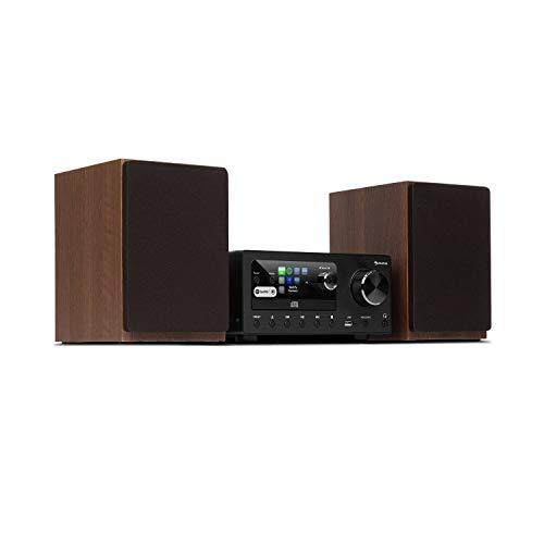auna Connect System - Equipo de música, 2 Altavoces estéreo, Radio por...