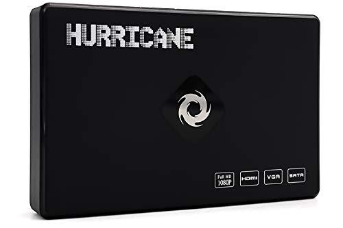 Hurricane TV Media Player mit 1TB Festplatte Full HD Mediaplayer (1920*1080) HDMI, MKV, Multi-Language Digital Video Media Player Mini tv Box mit 1TB HDD mit Fernbedienung