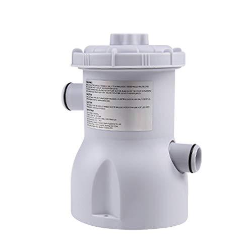 Adaskala Bomba de Filtro de Piscina Bomba de Filtro de Cartucho Transparente de Piscina eléctrica para Piscinas sobre el Suelo Kit de Herramientas de Limpieza con Cartucho de Filtro