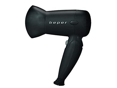 Beper 40405 - Secador De Pelo compacto De Viaje, 2 velocidad y temperatura, Chorro de aire frío, concentrador, 1200W