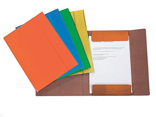 Alevar 3670 Cartellina con Elastico Formato A5, Colori Assortiti, Confezione da 10