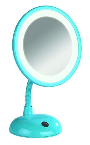 Wenko 3656442100 Miroir sur Pied Cosmétique Style Grossissement x3 - Bleu