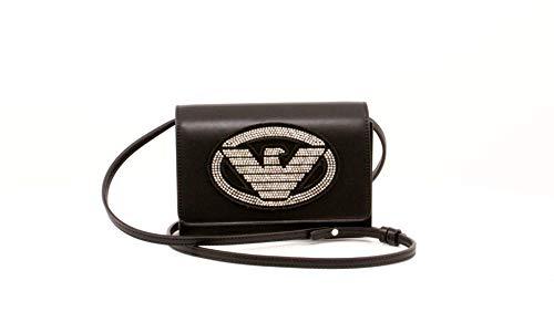 Emporio Armani Borsa tracolla logo mini Y3B086 YGE1X black/gold