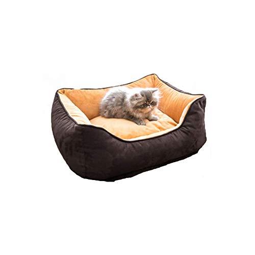 JIAMING Cómoda Moderna Camas for Mascotas Pet BedFour Estaciones Universal extraíble Lavable Ante Adecuado for Grandes, Medianas (Color : Purple, Size : Xlarge)