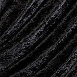 FAT QUARTER OF BLACK CRUSHED VELVET FABRIC ***FREE POST*** BLACK CRUSHED VELVET VELOUR STRECHY/STRETCH MATERIAL JET BLACK Fat Quarter