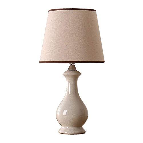 BJLWTQ Simple lámpara de Mesa lámpara de Mesa de Noche Dormitorio Moderno Nuevo Blanco del Hielo grieta lámpara de Mesa de cerámica de la Leche de regulación China nórdica de América