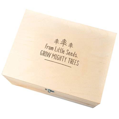en bois gravé Boîte souvenir/souvenir de mémoire Unique de boîte/cadeaux de naissance/gravé Cadeau pour nouveaux parents/nouveau-né fille garçon cadeaux