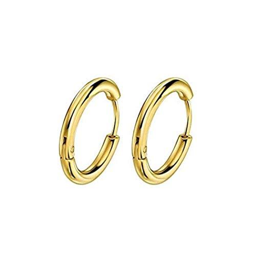 Sowohl Männer als auch Frauen, Reifen, Vektoren, Gold, Silber, bunt, schwarz, Rose, Gold runde Ohrringe, weibliches Mode-Punch-Hoop-Ohr TINGG
