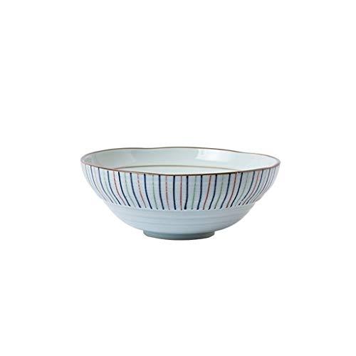 Bol de Soupe-QFF Bol en porcelaine 1550 ml, bol de fleurs sur le bord bol de légumes bol occidental restaurant vaisselle commerciale bol de pâtes Cuisine arts de la Table (Color : C)