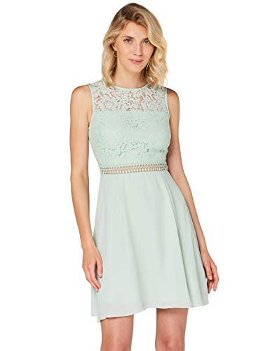 Amazon-Marke: TRUTH & FABLE Damen kleider Jcm-42470, Grün (Celadon Green), 38, Label:M