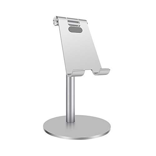 LFLDZ Adjustable Desktop Stand Holder, for Tablet IPhone Aluminium Metal Tablet Stand Mount, for Ipad Pro Mini Samsung Uchwyt Na Tablet,Silver