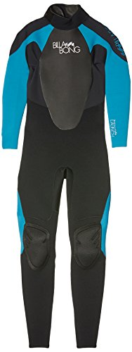 BILLABONG Ladies Launch 3/2mm GBS Wetsuit in Bl/Turquoise Blue O43G01, Nero (Nero/Turchese), Size10