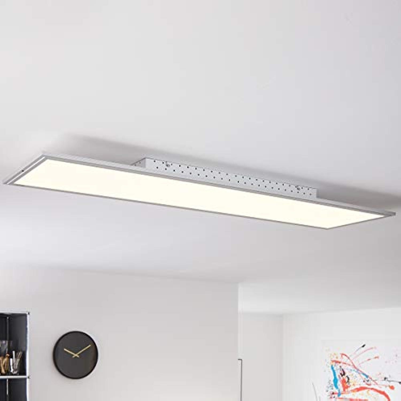 LED Panel Deckenleuchte 120x30cm, 1x 60W LED integriert, 1x 3650 Lumen, 2700-6200K, Metall Kunststoff, alu wei
