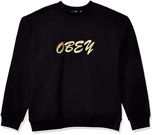 Obey Herren Cliche Crewneck Sweatshirt, schwarz, XX-Large